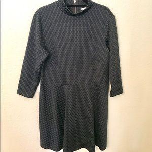Checkered 3/4 Sleeve Dress